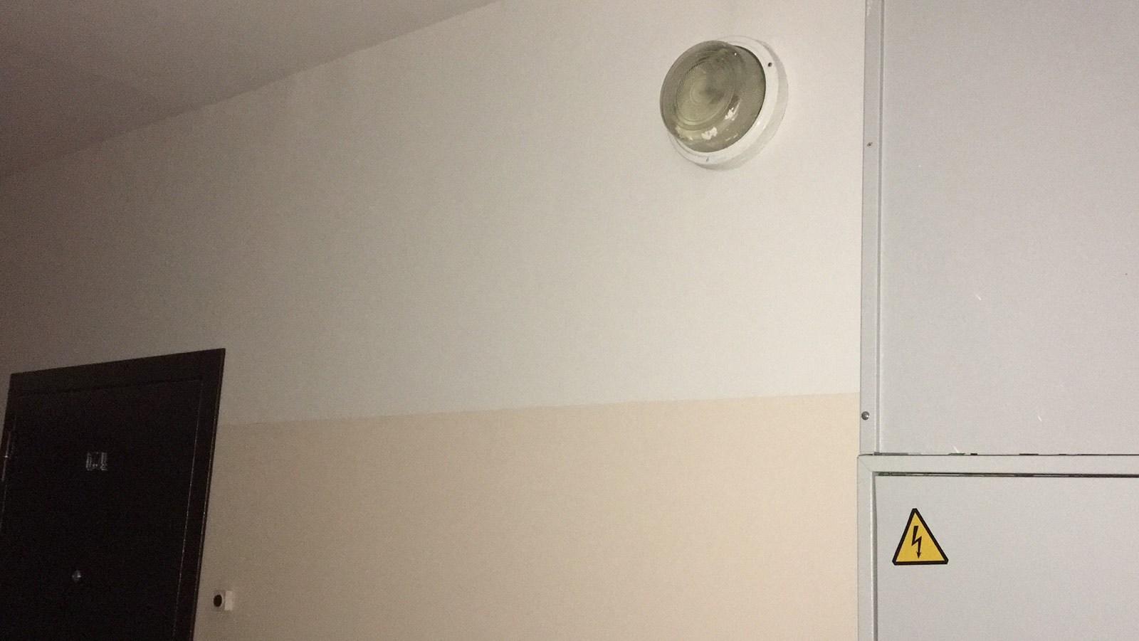 5П 1 эт - в правом крыле одна лампа не светит