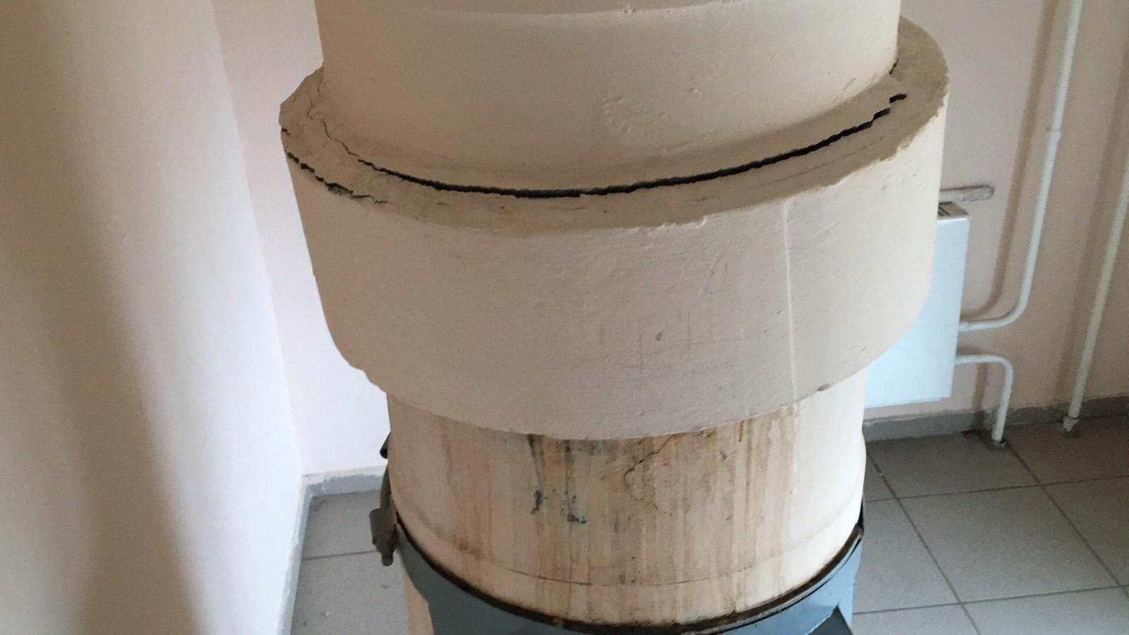7П 8 эт - кольцо мысоропровода надо закрепить