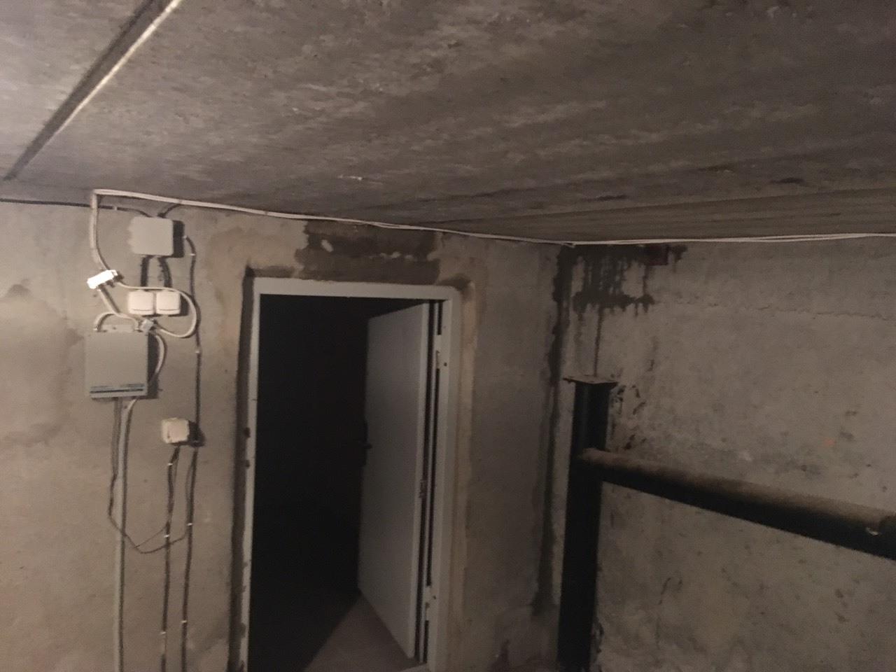 Потеки в техническом этаже